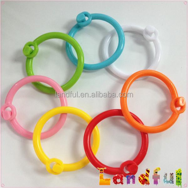 baby rings toys plastic Ring Clip Open Plastic Links