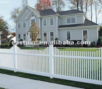 White Or Tan Plastic Garden Fence Panels