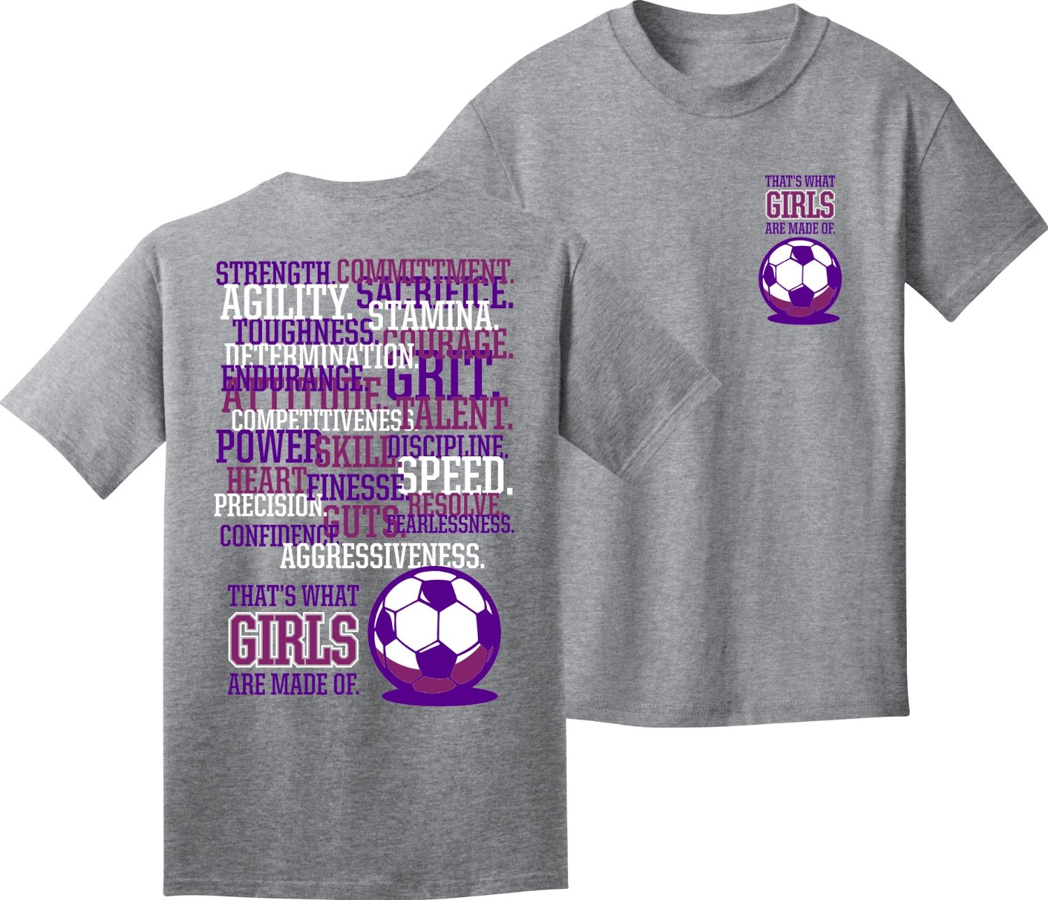 a1cc0056e1d Buy Girls Soccer T-Shirt: Girls are Made of Soccer in Cheap Price on ...