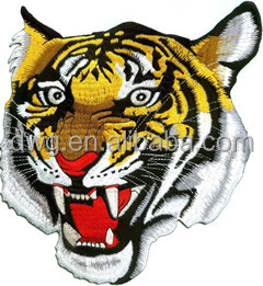 Iron On Tiger head fully embroidered patch