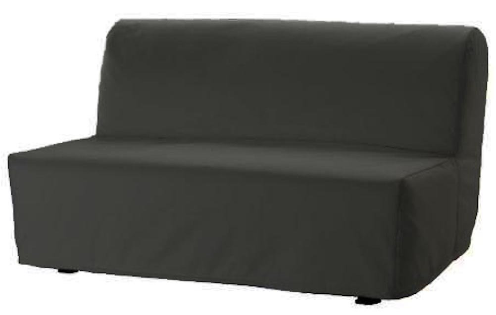The Lycksele Lovas Sofa Bed Cover Replacement is Custom Made for Ikea Lycksele Sleeper Or Futon Slipcover. No Filling, Nor Wadding, Easy to Wash (Dark Gray)