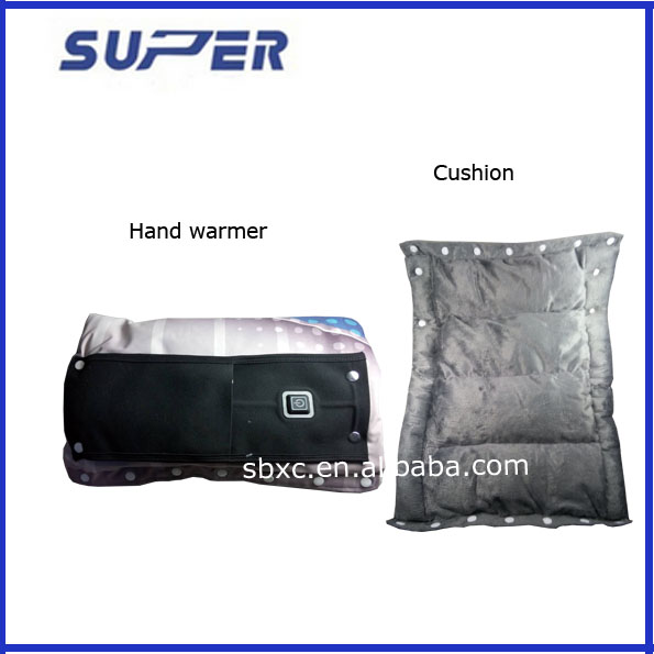 Rechargeable Hot Heating Pack Electric Hand Warmer with Soft Cover ,cushion