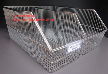 304 Stainless Steel Wire Baskets, View Wall Panel Basket, Yingguang ...
