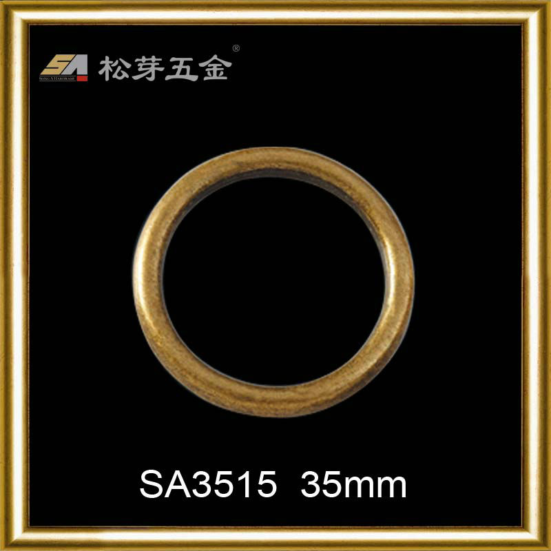 High quality custom metal plates brand logo o ring for handbag