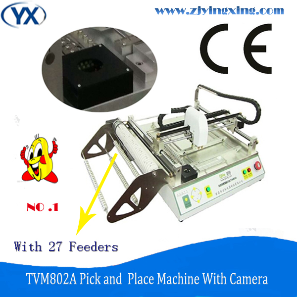 27 Feeders LED Chip Mounter Machine,SMD/LED Soldering Machine with Great Mounting Capacity For Electronic/SMD Component TVM802A