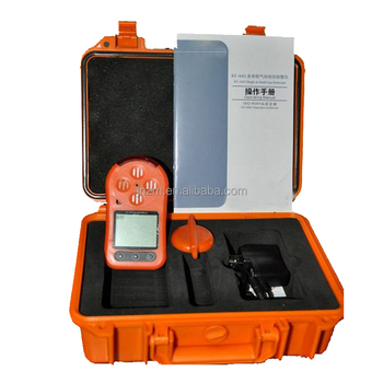 KT602 portable multi gas detector with sound light and vibrating alarms