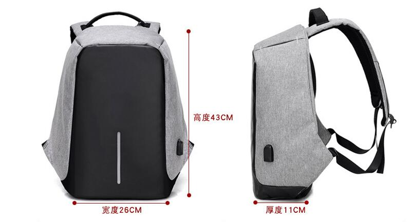 Safety anti-theft backpack Safety anti-theft computer bag splash universal 15 inch laptop bag for men and women