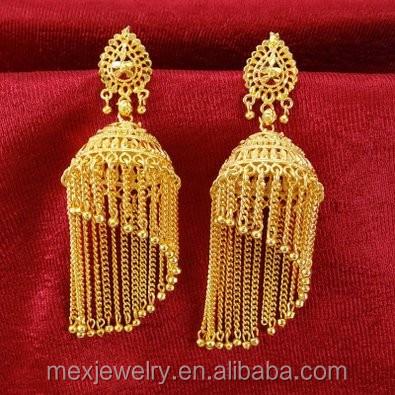 south indian gold big traditional tear drop mango jhumka jhumki