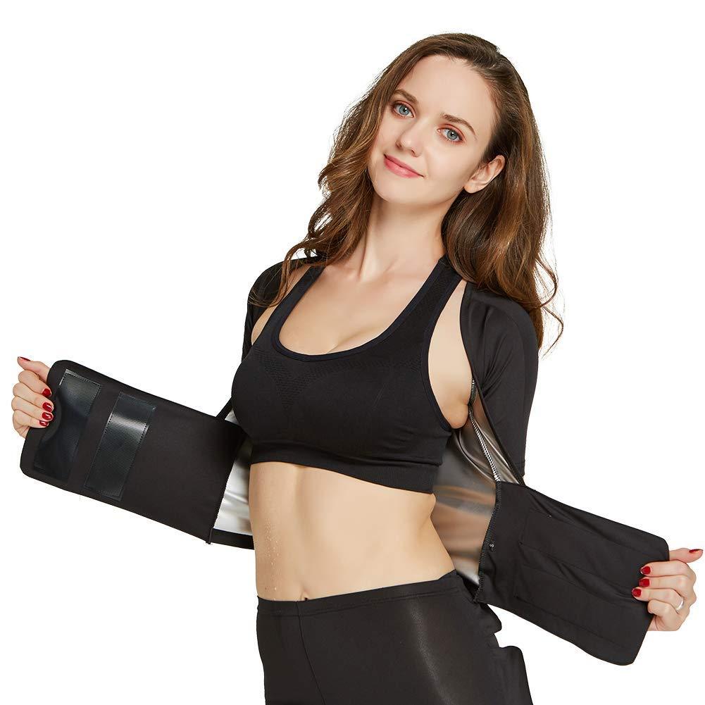 ec38acea98 Get Quotations · AICONL Sauna Suit Sport Running Suit Yoga Clothes Sweat  Suit Fat Burner Slimming Body Shaper