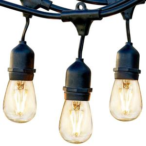 Hanging Dimmable S14 Vintage Edison Bulbs 48ft Commercial garden Party Patio Light Waterproof IP65 LED Outdoor String Lights