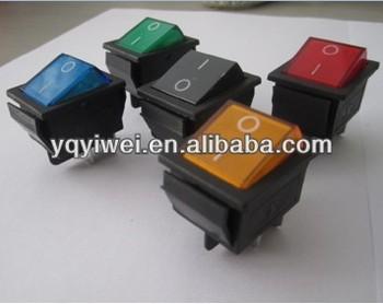 Black Rocker O I Marking Kcd Series 4 Terminals Neon Lamp Rocker ...