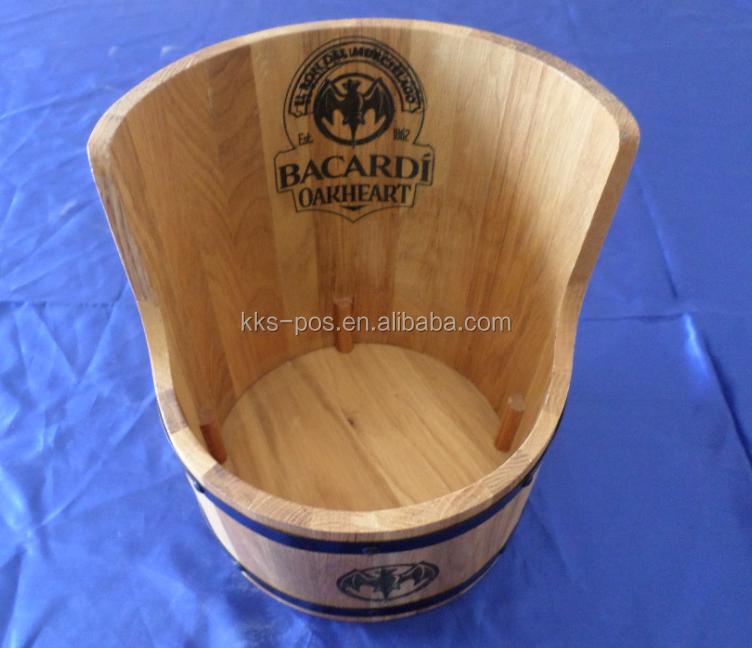 Bacardi Wooden Tray Bar Custom POS