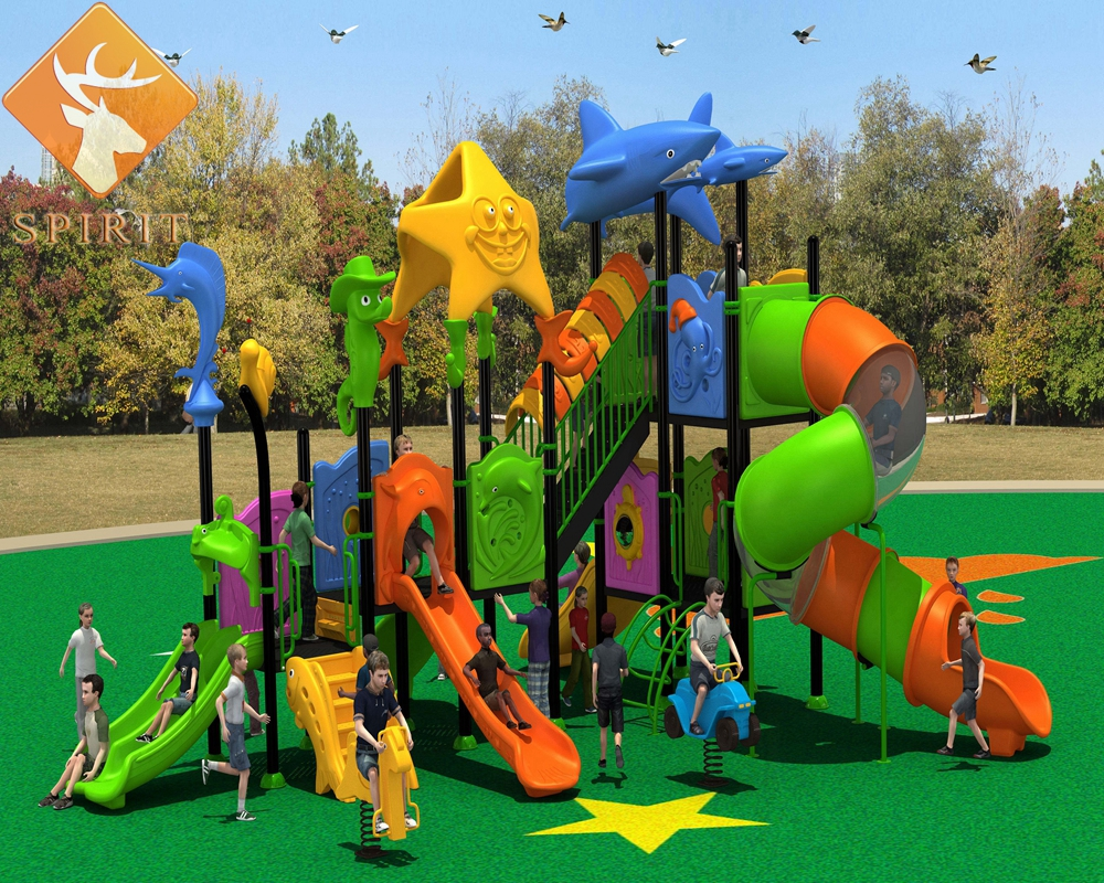 Zhejiang Climbers and Slides Daycare used outdoor playground equipment sale for India