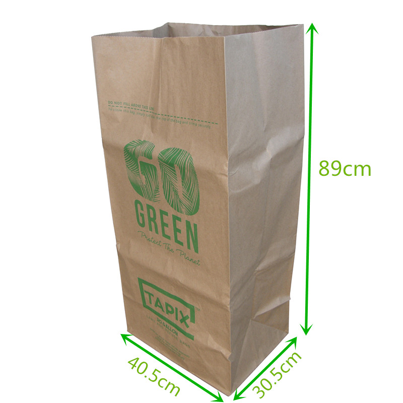 Compole Paper Bag Yard Waste Lawn And Leaf With Logo 30 Gallon Trash Garbage View Tianyu Product Details From
