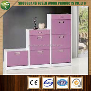 modern wood luxury classic home furniture shoe cabinet