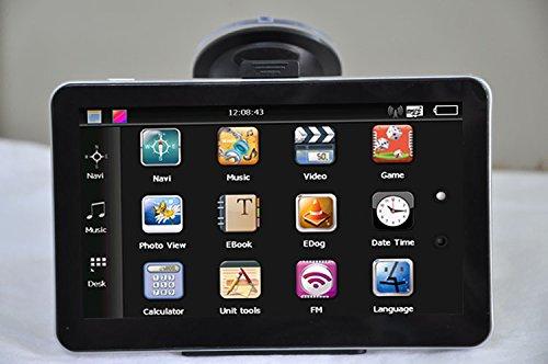 AMAGLE 7-Inch Portable Vehicle GPS Navigator Car GPS with Bluetooth and Lifetime Maps (USA Canada Mexico)