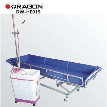 Dw-he019 Hospital Bath Trolley Shower Bath Bed - Buy Shower Bath  Bed,Hospital Bath Trolley Product on Alibaba com