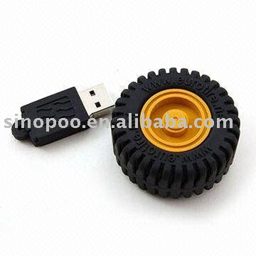 Wheel tire usb flash drive