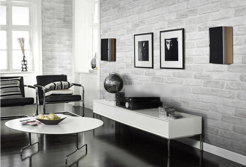 Moderne Gris Blanc Brique Papier Papier Peint Buy 3d Brique Papier