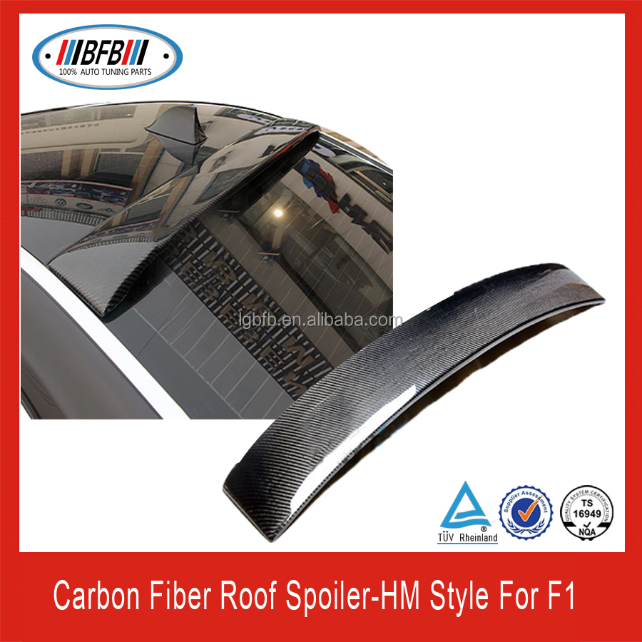high quality black carbon fiber rear roof spoiler F01 HM Style 7 series FOR BMW 2009-2012
