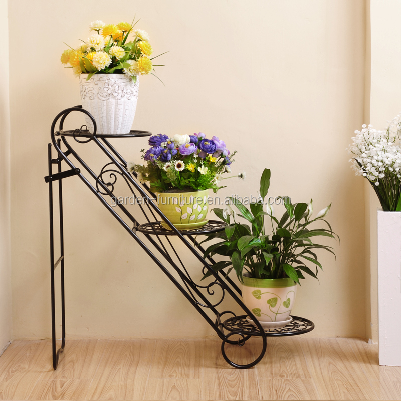 Xy1305 Uniquely Home Garden Decor Metal Plant Stand 3 Tier