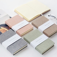wholesale journal school stationery canvas notebook with pasteboard