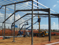 Supply light and heavy steel frame space frame steel structure for workshop warehouse