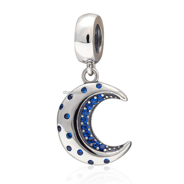 Buy cheap china blue moon pendants products find china blue moon 925 sterling silver dangle blue cz crescent moon charms pendant for bracelet necklace aloadofball Images
