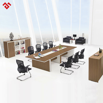 Long Big Melamine Conference Table For Meeting Room Modern