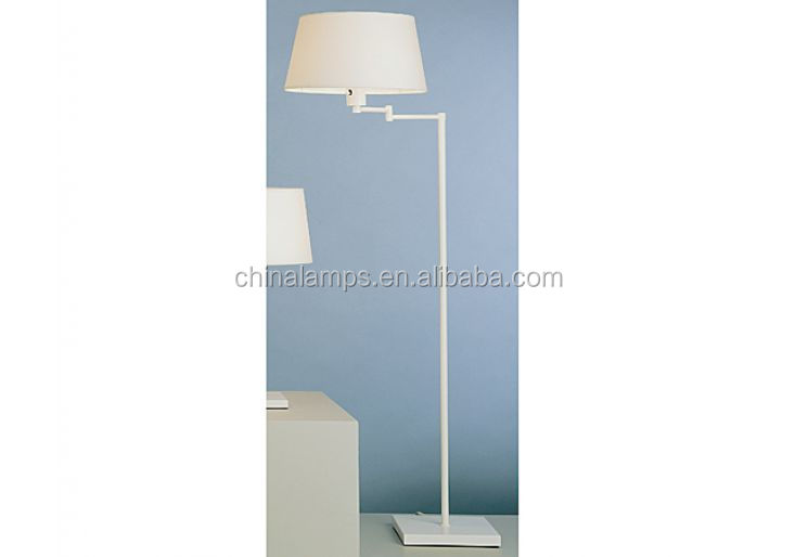 White Lacquer Swing Arm Standing Floor Light With Modern White ...