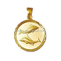 Gold Fish Pendant Necklace Made Of Stainless Steel, 18k Gold Plated Pisces - Fish - Zodiac Pendant