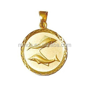 35cf7a388 Gold Fish Pendant Necklace Made Of Stainless Steel, 18k Gold Plated Pisces  - Fish -