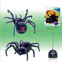 Kids plastic 4channel remote control rc spider toy