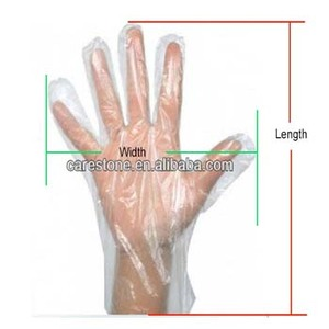 factory wholesale plastic disposable transparent cleaning PE glove