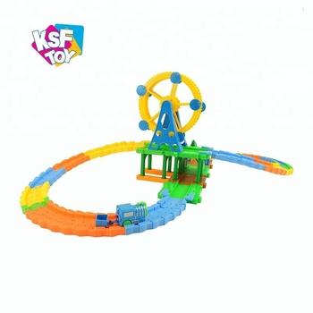 Enfants Circuits De Train Electrique Piste De Course De Voiture Jouet De Fente Train A Vendre Buy Train De Jouet De Fente Train De Jouet De Voie