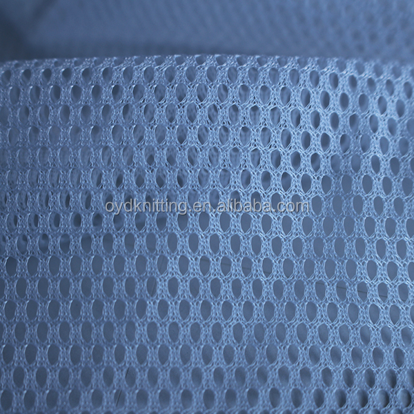 100% Polyester White/Grey Color Warp Knitting 3*1 Mesh Fabric for Lining/Bags/Hat