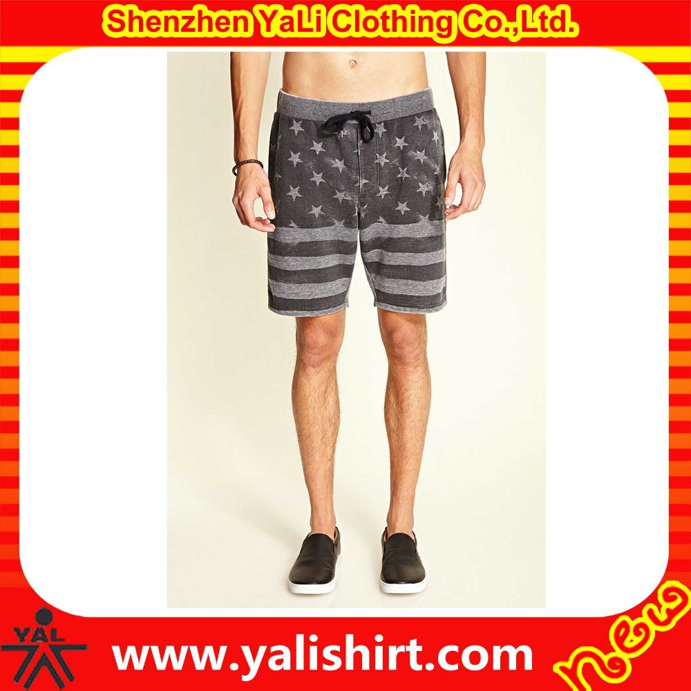 new arrived cheap fashionable custom printed factory made flag shorts