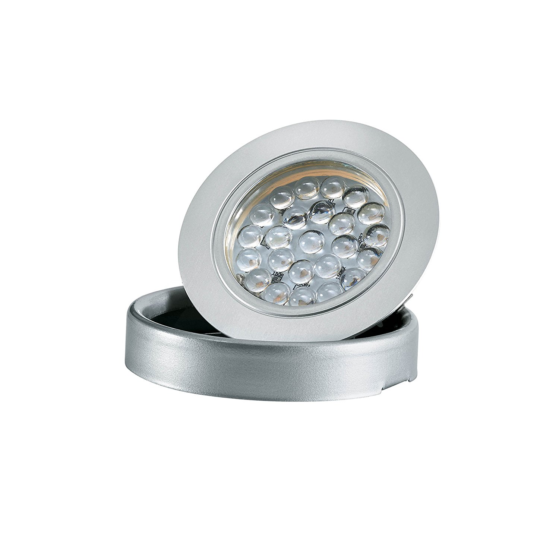 Tresco Lighting L-1EQPWNI-KIT 2.5W EquiLine Warm White Puck, Nickel Finish