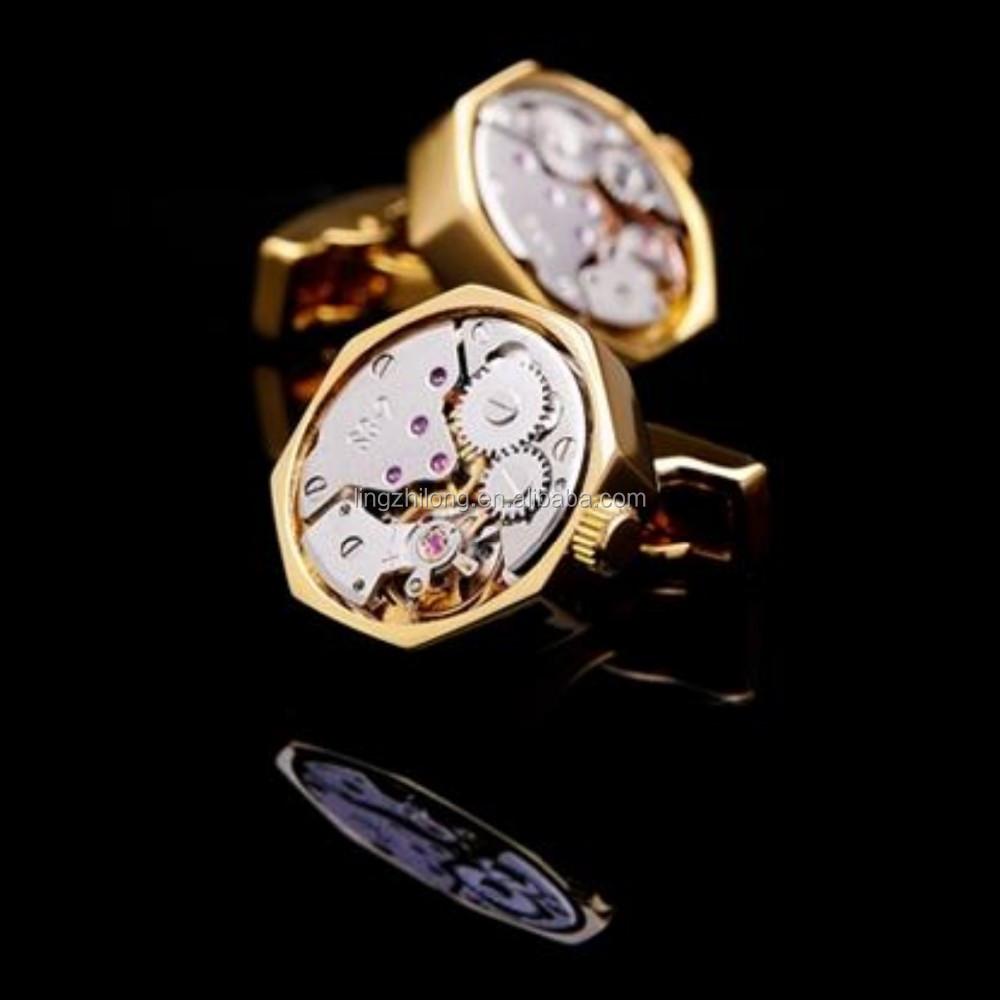 Custom Brand Cufflinks High Quality Watch Movement Cufflinks