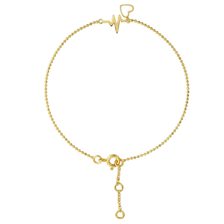 Stellar Designs Yellow Gold Overlay Plain Fashionable Adjustable Brass Chain Bracelet