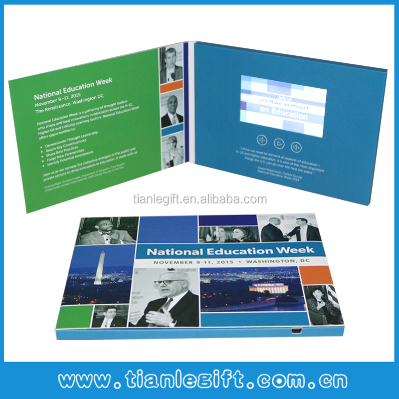 4.3 Inch Lcd Screen video greeting card video brochure TV in a card