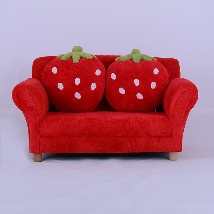 Kids Toddlers Sofa Lounge Couch Strawberry Double Seat