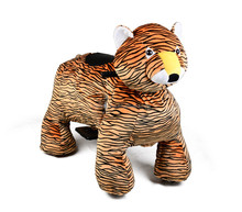 MZ59 plush tiger riding toys forward safe speed electric animal rides for rental sale