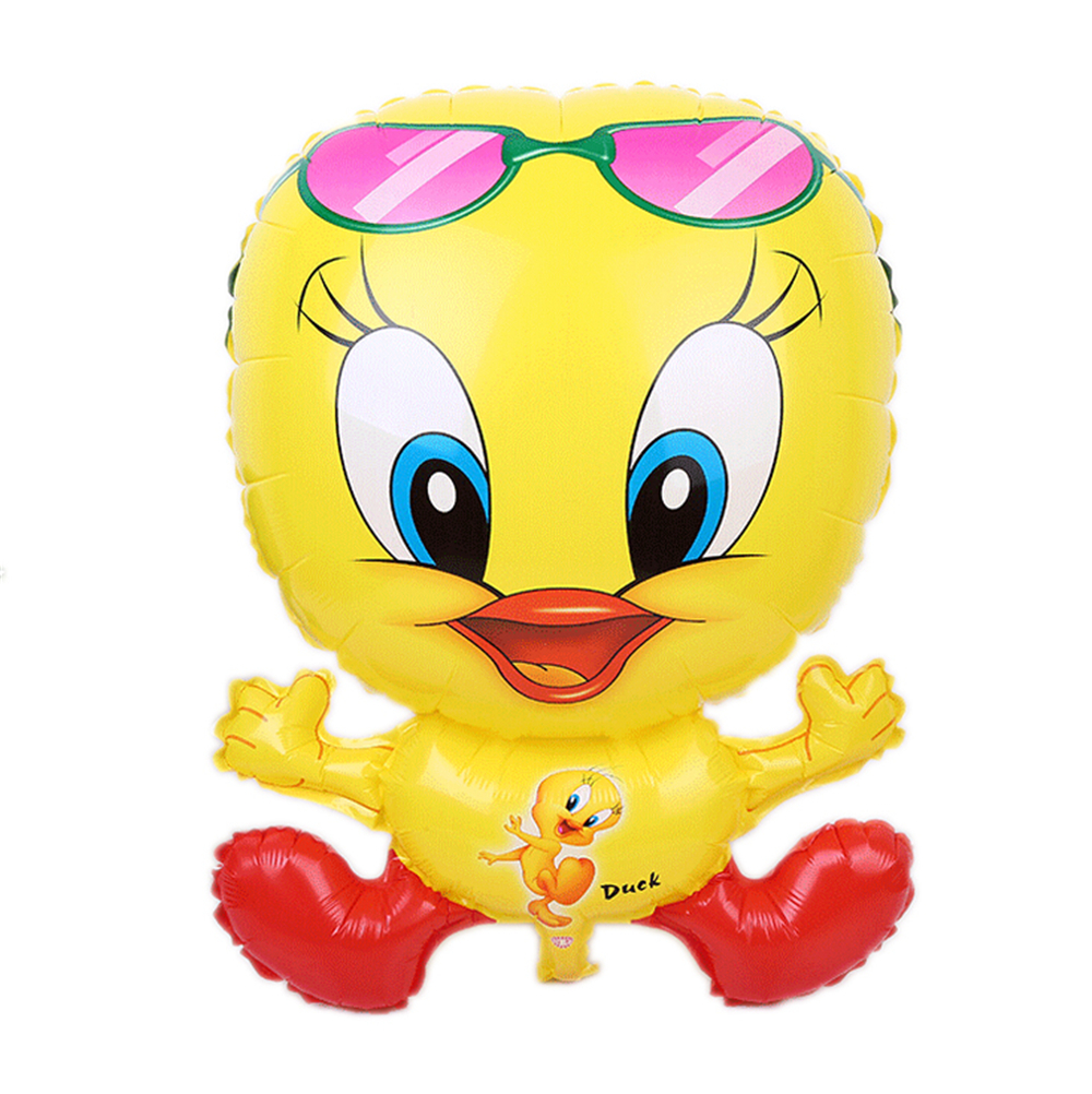 Buy 50PCS New Arrive Yellow Duck with Sunglass Foil Balloons Cartoon ...