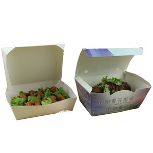 disposable greaseproof paper packaging box with the SGS authentication