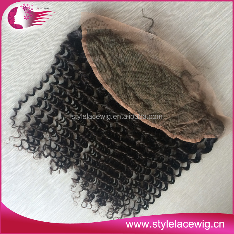 Prompt shipping 16 Inch 13x4 Human Hair Lace Frontal Piece