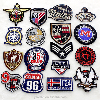 Embroidered Brand Logo Custom Embroidery Patches Sew On Iron For