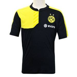 1d4349cd002e Get Quotations · Borussia Dortmund Black Soccer T-Shirts 100% Polyester  Football