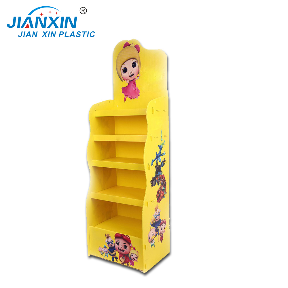 Customized Light Weight Corrugated Plastic Display Promotional Rack PP Corflute Display Stands