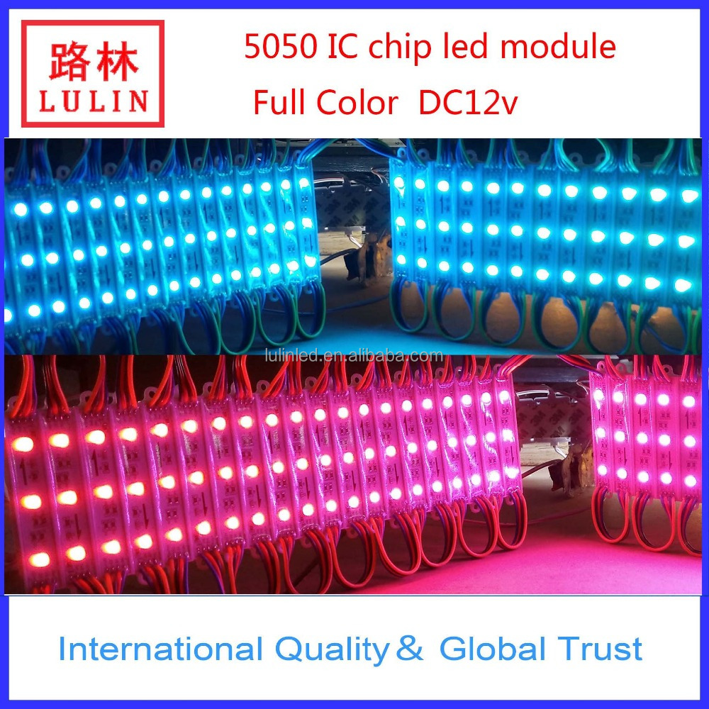 Waterproof IP67 5050 RGB Full color wonderful LED Module in Cabinet Lighting